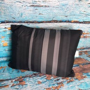 Other - Black/Grey Striped Accent Pillow
